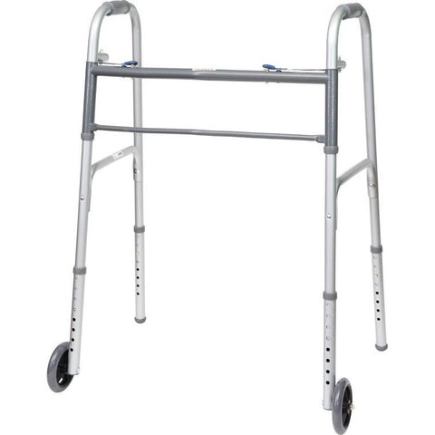 Convaquip: Bariatric Folding Walker (Twin Pack) - 830F-500 - With Wheels