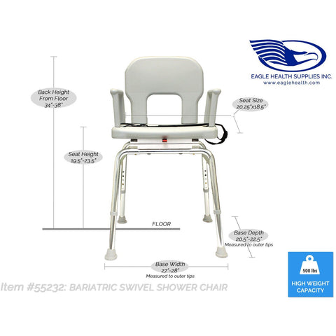 Eagle Health: Bariatric Swivel Shower Chair a-55232