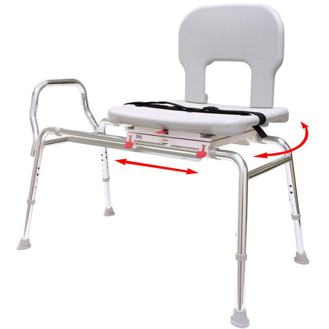Eagle Health: Bariatric Swivel Sliding Transfer Bench a-55662