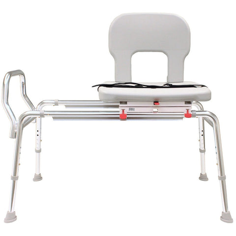 Eagle Health: Bariatric Swivel Sliding Transfer Bench (Extra Long) a-55692