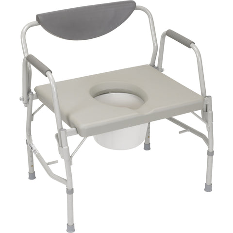 Convaquip: Bariatric Droparm Bedside Commode - DR11135