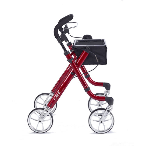 Comodita: Avanti Walker Rollator - COM 800 Red Side View