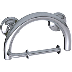 Grabcessories: 2-in-1 Grab Bar Toilet Paper Holder Wgrips & Hollow Wall Anchors - 61022 Polished Chrome - Actual Image