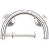 Image of Grabcessories: 2-in-1 Grab Bar Toilet Paper Holder Wgrips & Hollow Wall Anchors - 61022 - Brushed Nickel
