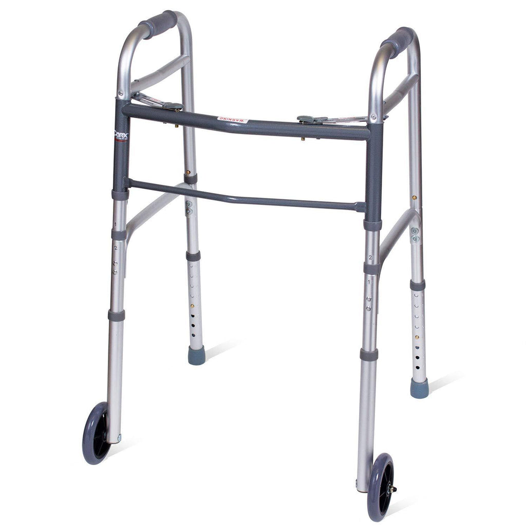 Carex: Folding Walker with Wheels - FGA87100 0000