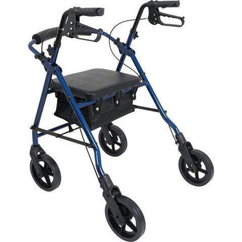 FEI: ProBasics Aluminum Rollator, Color Blue - 68-0028 - Side View