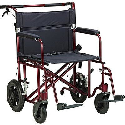 "FEI: Bariatric Aluminum Transport Chair, 22"" seat - 69-0385 - Actual Image"