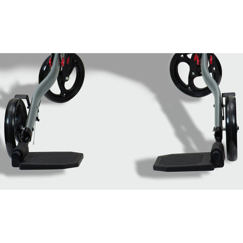 Ergoactives: Roller-Go Double Foldable Walker With Forearm Support - A042 - Footrests