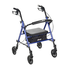 "FEI: Adjustable Height Rollator, 6"" Casters, Color Blue - 70-0583 - Actual Image"