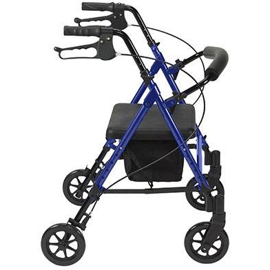 "FEI: Adjustable Height Rollator, 6"" Casters, Color Blue - 70-0583 - Side View"