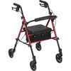 "Image of FEI: Adjustable Height Rollator, 6"" Casters, Color Red - 70-0584 - Actual Image"