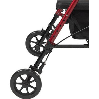 "FEI: Adjustable Height Rollator, 6"" Casters, Color Red - 70-0584 - Rear Wheel"