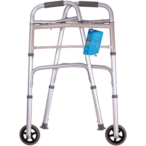 "Carex: Dual-Button Walker with 5"" Wheels - FGA84790 0000 - Folded View"