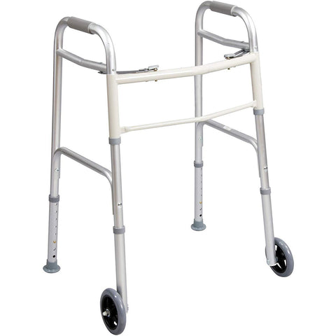 "Carex: Dual-Button Walker with 5"" Wheels - FGA84790 0000"