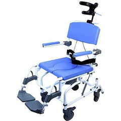 Healthline Medical: Aluminum Tilt Shower Commode Chair