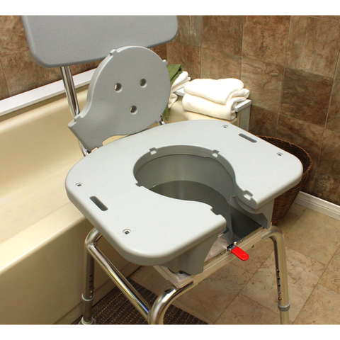 Eagle Health: Swivel Shower Chair w/Cut-Out a-75233