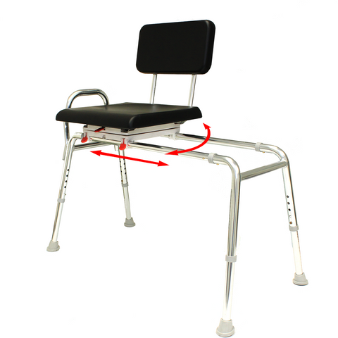 Eagle Health: Padded Swivel Sliding Transfer Bench (Extra Long) a-77691