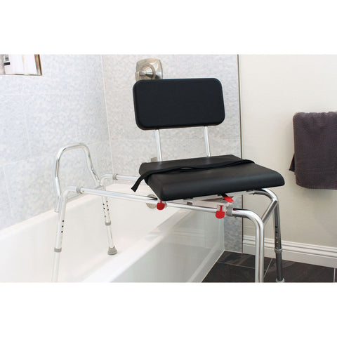 Eagle Health: Padded Swivel Sliding Transfer Bench (Extra Long) - 77691