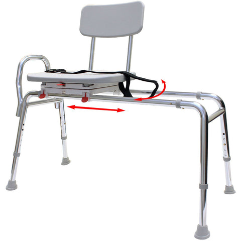 Eagle Health: Swivel Sliding Transfer Bench (Regular) - 77662