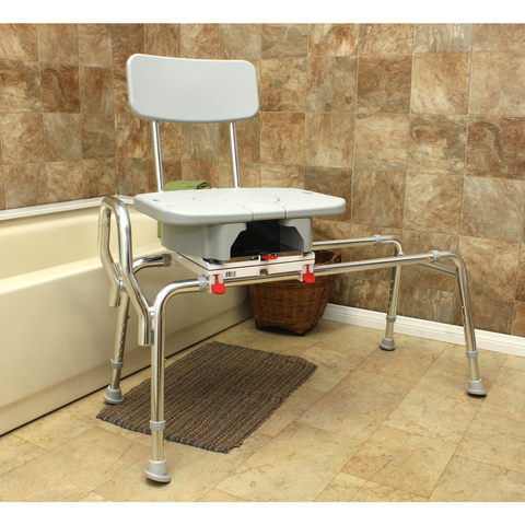 Eagle Health: Swivel Sliding Transfer Bench w/Cut-Out (Regular) - 77663