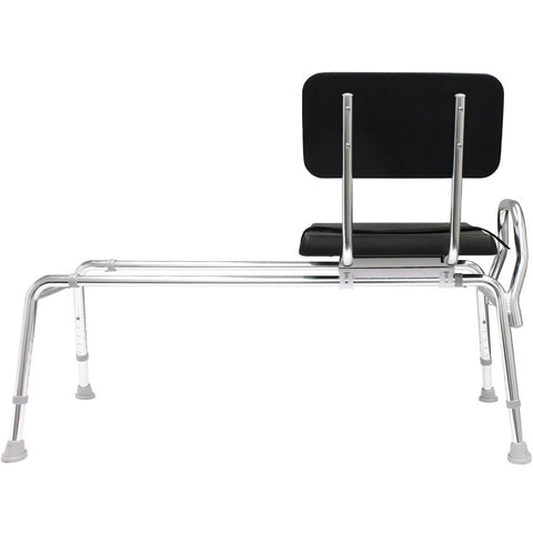 Eagle Health: Padded Swivel Sliding Transfer Bench (Extra Long) a-77691 Back view