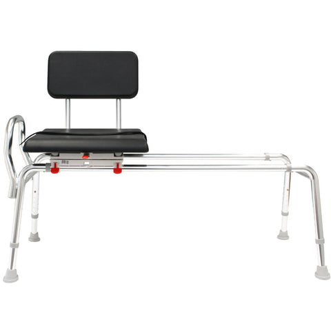 Eagle Health: Padded Swivel Sliding Transfer Bench (Extra Long) a-77691 Front View
