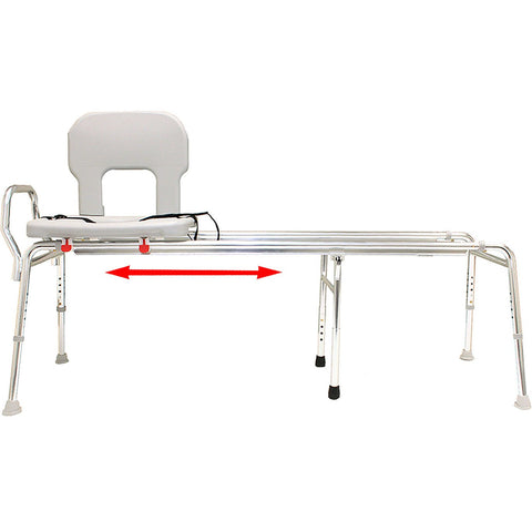 Eagle Health: Toilet-to-Tub Sliding Transfer Bench (Extra Long) a-77983