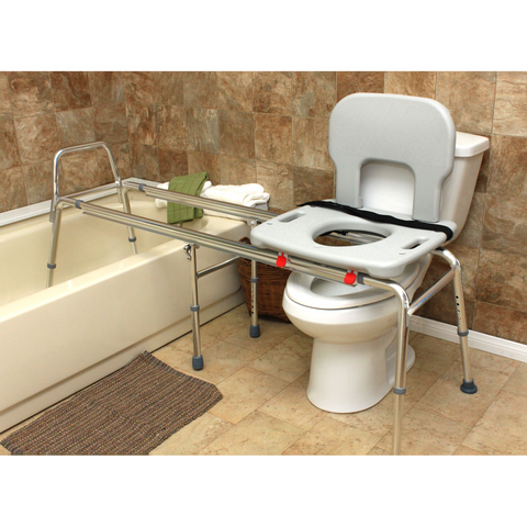 Eagle Health: Toilet-to-Tub Sliding Transfer Bench (Long) a-77963 Actual Image
