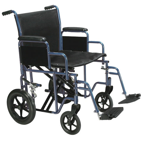 Drive Medical: Bariatric Steel Transport Chair - BTR20-B