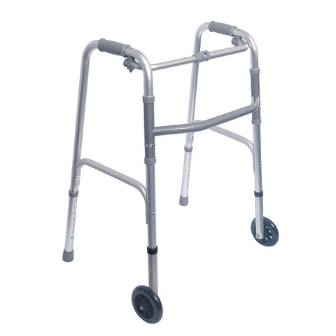 Healthsmart: DMI Lightweight Aluminum Folding Walker With Single Release - 802-1017-0645 - Actual Image