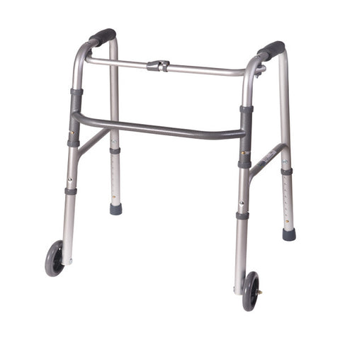 Healthsmart: DMI Lightweight Aluminum Folding Walker With Single Release - 802-1017-0645 - Side View