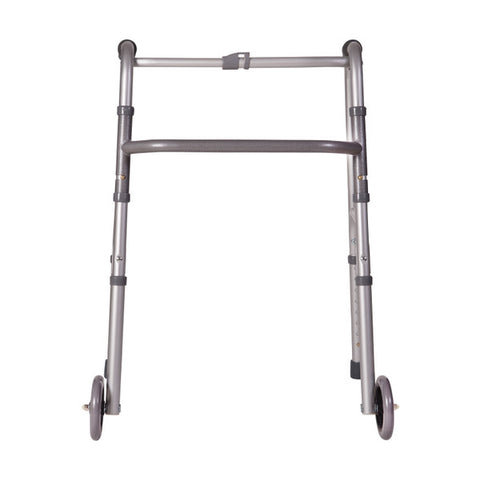 Healthsmart: DMI Lightweight Aluminum Folding Walker With Single Release - 802-1017-0645 - Front View