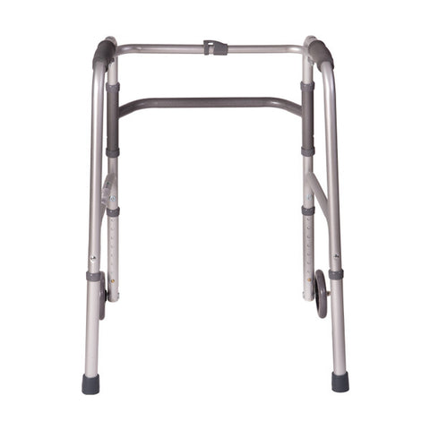 Healthsmart: DMI Lightweight Aluminum Folding Walker With Single Release - 802-1017-0645 - Back View