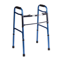 Healthsmart: DMI Lightweight Folding Walker With Two Button Release, Blue/Blue Ice - 802-1044-0100  - Actual Image