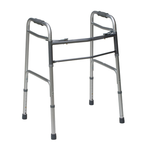 Healthsmart: DMI Bariatric Two-Button Release Aluminium Folding Walker, Silver/Gray - 802-1079-0600
