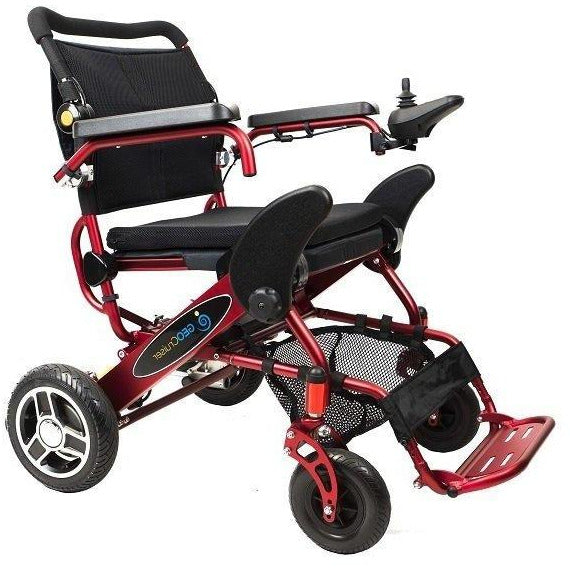 Geocruiser (Pathway Mobility): Geo Cruiser Elite EX Lightweight Foldable Power Chair (RED) - GC-416R