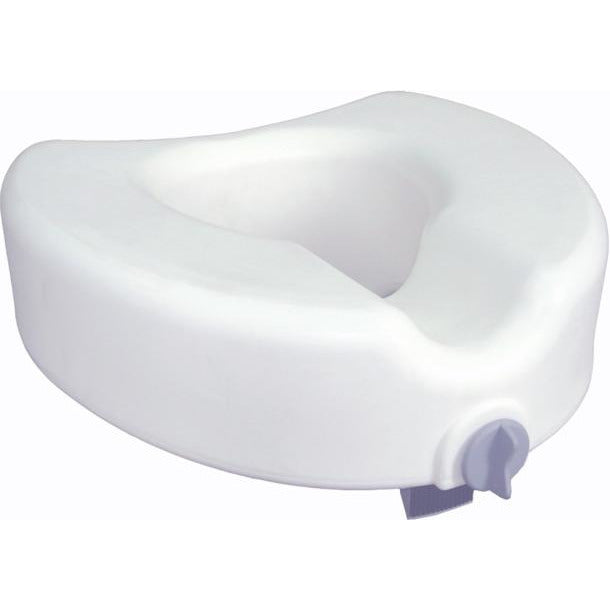Drive Medical: Premium Plastic Raised, Regular/Elongated Toilet Seat, with Lock