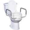 Drive Medical: Premium Raised Toilet Seat with Removable Arms -12403