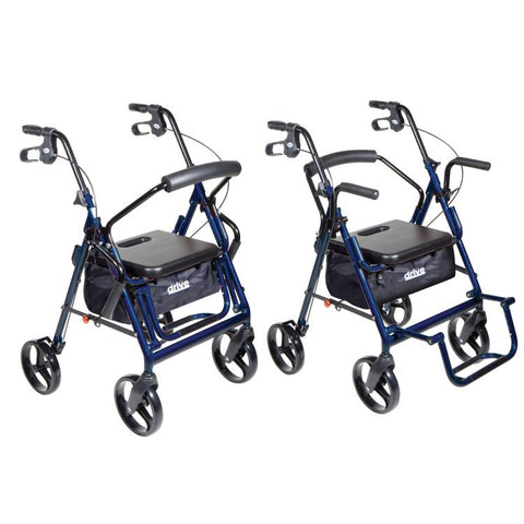 "Drive Medical: Duet Rollator/Transport Chair, 8"" Casters"