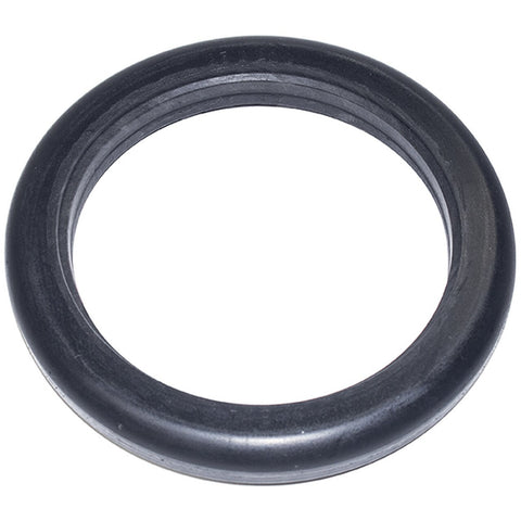 "New Solutions: 8 x 1"" Dark Gray Round Tire Fits New Solutions 8 Spoke Wheels - AL175 - Side View"
