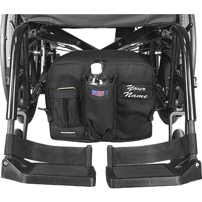 "See and Be Safe: Wheelchair Bag for Under Seat 10"" tall x 13"" wide x 5"" deep - 20241"