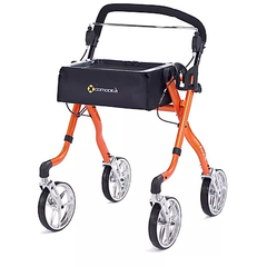 Comodita: Avanti Walker Rollator - COM 800 Orange Front View