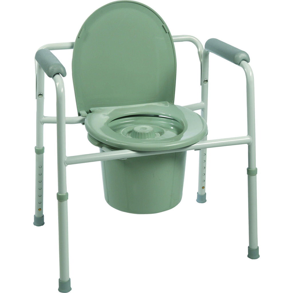 Compass Health: ProBasics Three-in-One Steel Commode with Plastic Armrests - BS31C