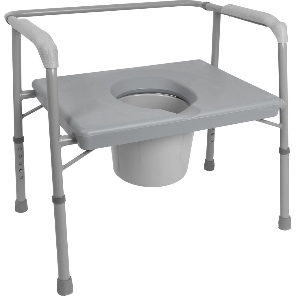 Compass Health: ProBasics Bariatric Commode with Extra Wide Seat 650 lb Weight Capacity, 2/cs- BSB24C