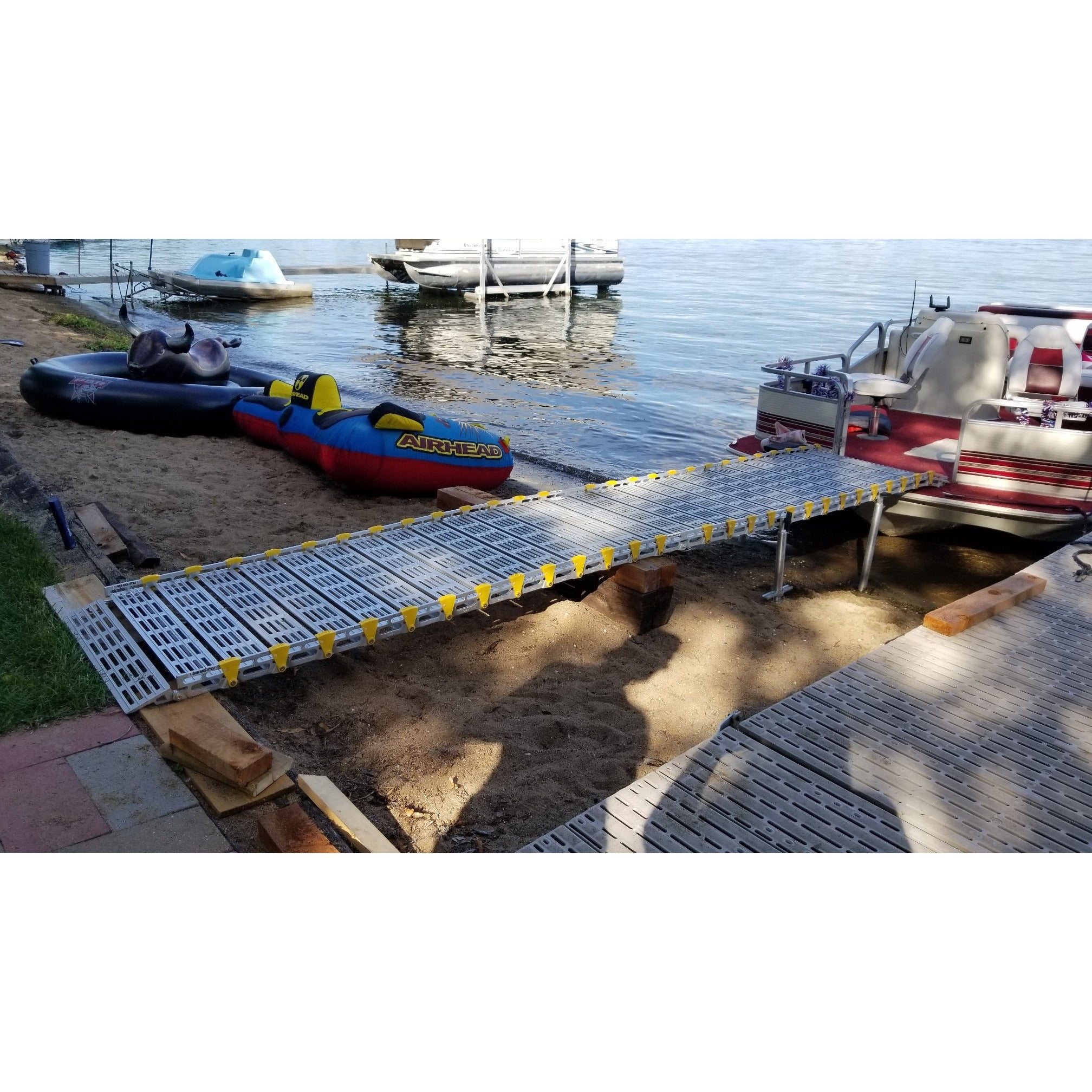 Roll-A-Ramp: Boat Ramps - Shore to Pontoon View