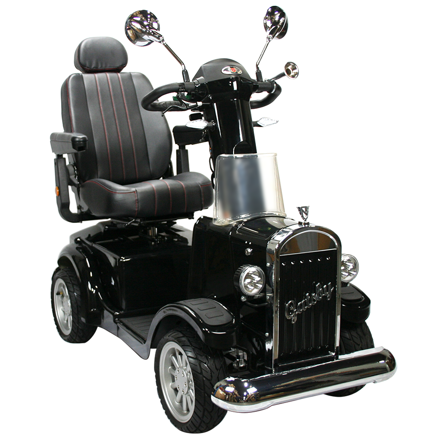 Vintage Vehicles: Gatsby Mobility Scooter - Black Color