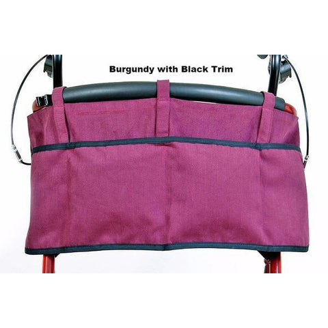 Granny Jo Products: Rollator Apron - Burgundy with Black Trim