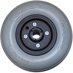 "New Solutions: 8 x 2"" Invacare Two Piece Caster 7/16"" Bearings 2 1/2"" Hub Width Urethane Tire - CW201"