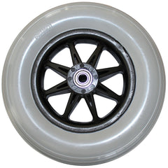 "New Solutions: 8 x 2"" Jazzy Rear One Piece 8 Spoke Caster 2.375 Hub Width Molded-On Tire - CW221"