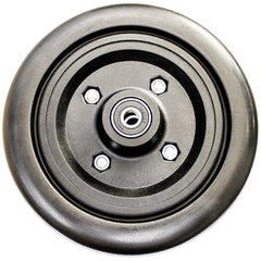 "New Solutions: 6 x 2 Urethane Black Wheel Black Tire with 2 1/2"" Hub - CW238"